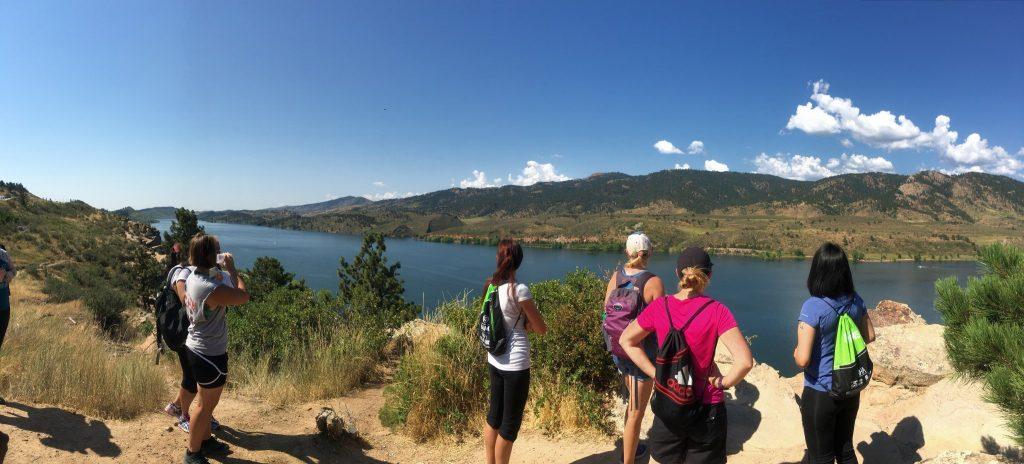 Elevate hiking scene